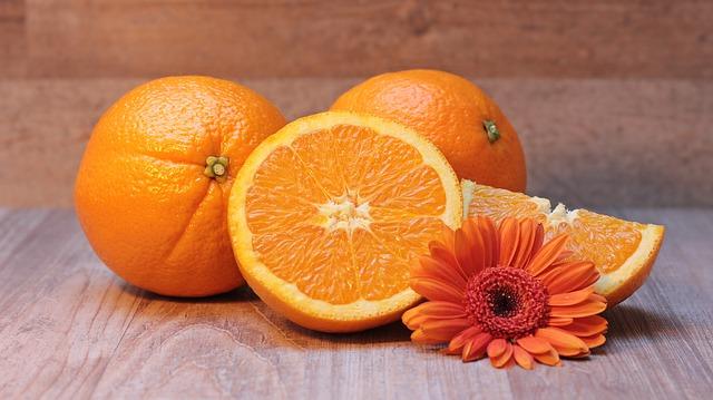rozkrojený pomeranč