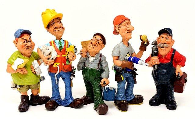 řemeslníci v monterkách