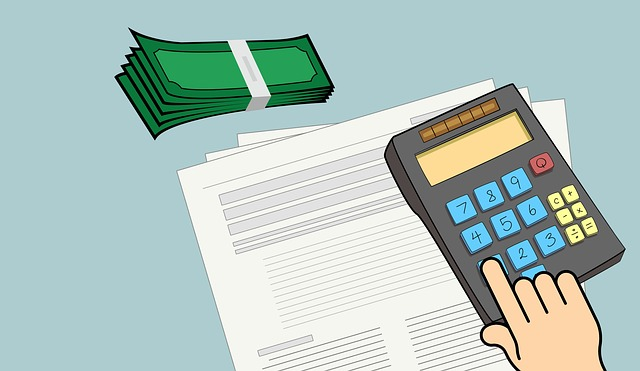 kalkulačka, rozpočet, bankovky