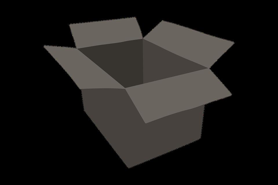 otevřená krabice